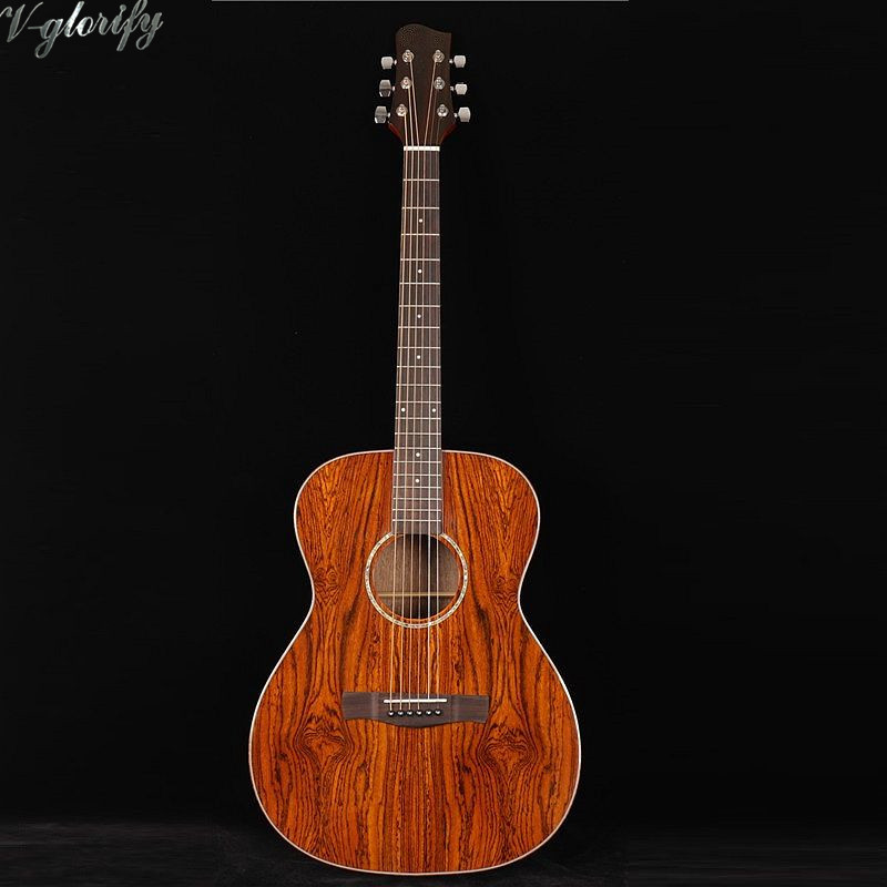 full butterfly wood om body acoustic electric guitar high quality in guitar from sports. Black Bedroom Furniture Sets. Home Design Ideas