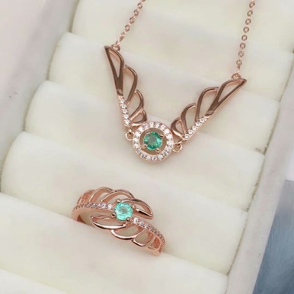 SHILOVEM 925 sterling silver Natural Emerald pendants rings classic fine Jewelry women wedding women wholesale tftz040401agml shilovem 925 sterling silver emerald stud earrings classic fine jewelry women wedding women gift wholesale jce040601agml