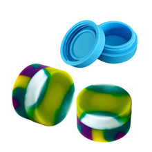 Non-stick Silicone Jar Dab Wax Containers For Jars Concentrate Case 6 in 1 Pass FDA &LFGB Test