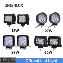 4inch 18W 27W 48W 60W Offroad Car 4WD Truck Tractor Boat Trailer 4x4 SUV ATV 12V 24V Spot Flood LED Light Bar LED Work Light high bright 9 inch 90w offroad led work light bar spot flood combo car truck trailer suv boat pickup 4wd 4x4 12v 24v headlight