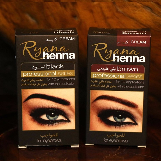 Ryana Henna Natural Eyebrow Eyelash Professional Color Tint Cream Kit, 15-minute Fast Tint Brown & Black Available easy dye 1