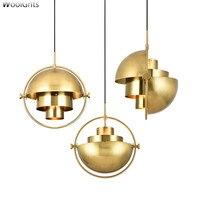 Wooights Nordic Gold pendant light postmodern minimalist lamp light loft pendant lamps antique Cord Hanging Pendant Lamp