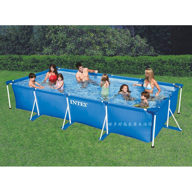 US $148.4 30% OFF|metal frame steel tube rectangular square swimming Pool  Set Pipe Rack Pond Large Bracket above ground filter summer play pool-in ...