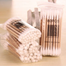 2 Bags Women Beauty Makeup Cotton Swab Double Head Cotton Buds Make Up Wood Sticks Nose Ears Cleaning Cosmetics Health Care
