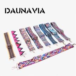 Daunavia брендовые модные женские туфли сумка ремешок Известный дизайнер Регулируемый сумка-мессенджер на плечевом ремне мешок красочные