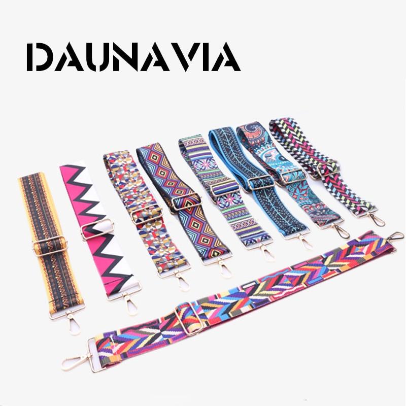 DAUNAVIA Brand Fashion Women bag's strap Famous Designer Adjustable Shoulder Strap Messenger Bag colorful Strap for women 110cm