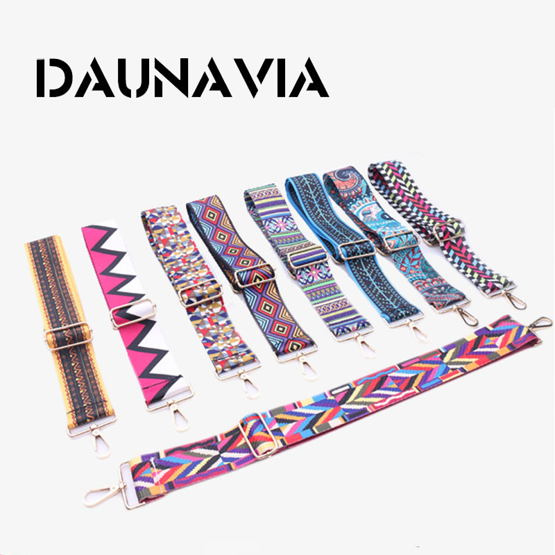 DAUNAVIA Fashion Women Bag's Strap Famous Designer Brand  Adjustable Shoulder Strap Messenger Bag Colorful Strap For Women 110cm