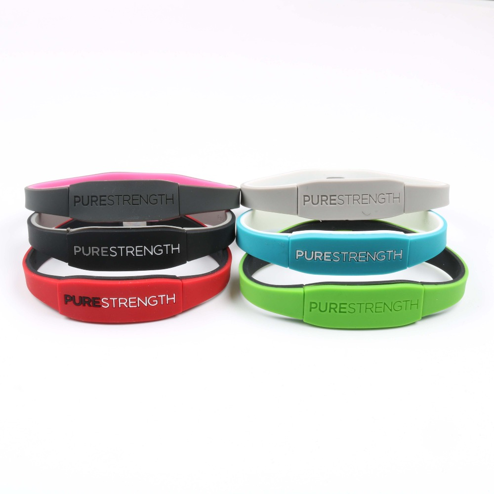 Blue Power Balance™ PRO ION™ Bracelet Silicone Energy Health Original code