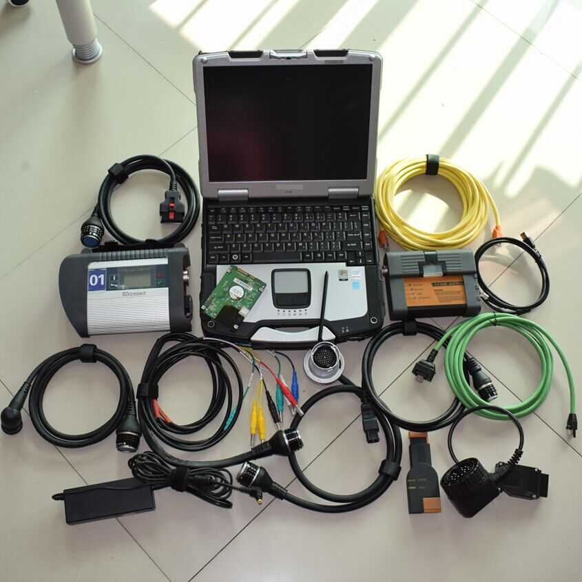 mb star c4 multiplexer and ICOM a2 for bmw with laptop toughbook cf-30 with 2in1 hdd 1tb software 2in1 diagnostic