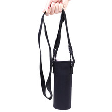 420-1500ML Water Bottle Cover Bag Pouch w/Strap Neoprene Water Pouch Holder Shoulder Strap Black Bottle Carrier Insulat Bag(China)