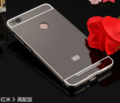 Mirror Case For Xiaomi redmi 3 pro Ultra thin Metal frame Mirror Plastic Battery Back Cover For xiaomi hongmi 3s Phone bags