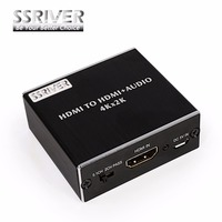SSRIVER HDMI Audio Extractor HDMI To HDMI With Optical TOSLINK SPDIF 3 5mm Stereo Audio Extractor