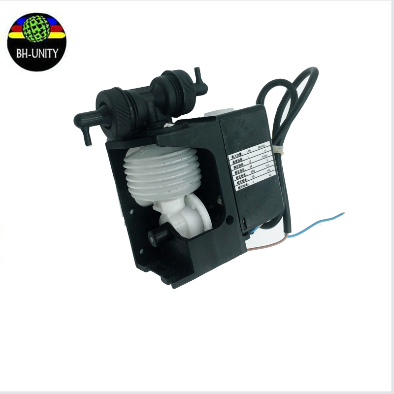 Wholesale 1PC 24V 7W 110-120ML/MIN xaar 382 printer solvent transfer pump myjet printer ink pump 300 400ml min 24v dc jyy brand big ink pump for solvent printer with free shipping cost by dhl