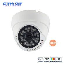 HD CCTV 1080P IP Camera 12fps With 3.6mm Lens Night Vision Network Dome Camera IR-CUT Filter Onvif P2P Android iPhone XMEye View