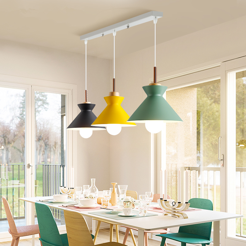 Modern LED Macaron chandelier dining room lighting fixtures Nordic hanging lights bedroom illumination restaurant suspended lamp