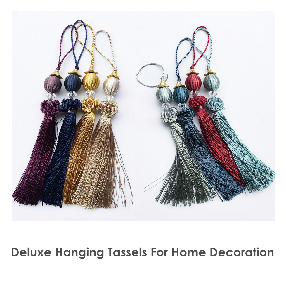 Decorative Euro Tassel Small Quality Tassel Drops Curtain Sofa Door Key Textile Accesories 28 Cm Length 8 Colors Sell By Piece