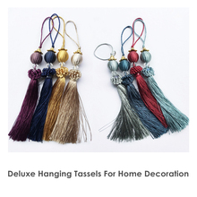 2016 Decorative Euro Tassel Small Drops For Curtain Sofa Door Key Decoration 28 cm Length Sell by piece