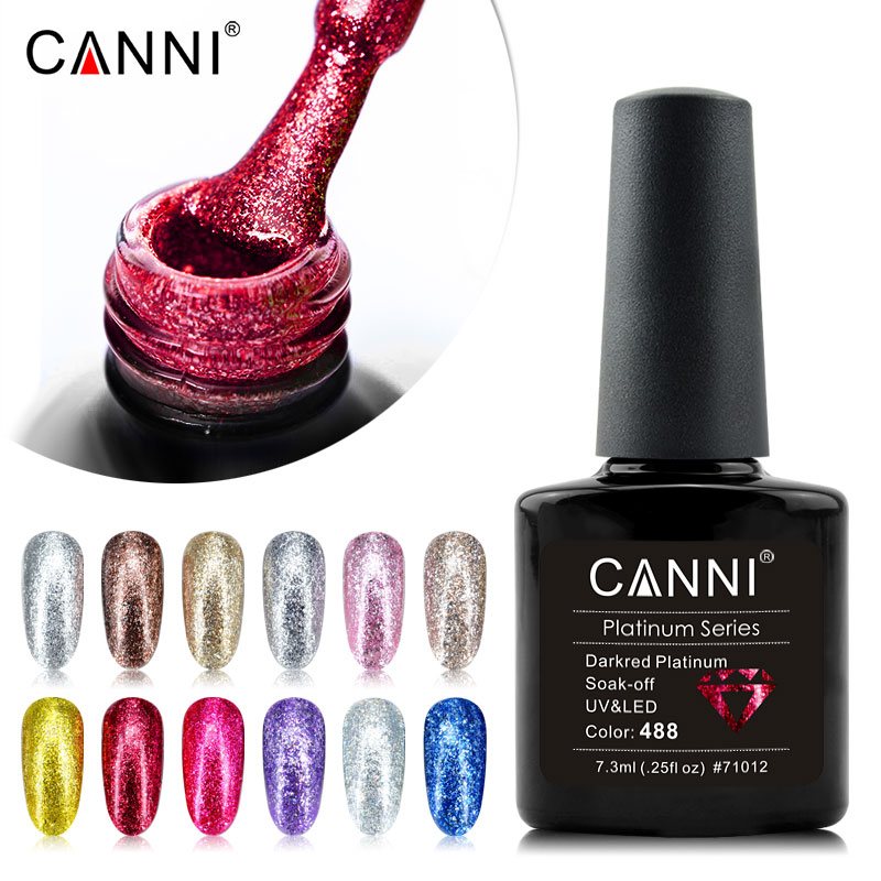 Canni Platinum Nail Gel Polish 12 Color 7 3ml Platinum Gel