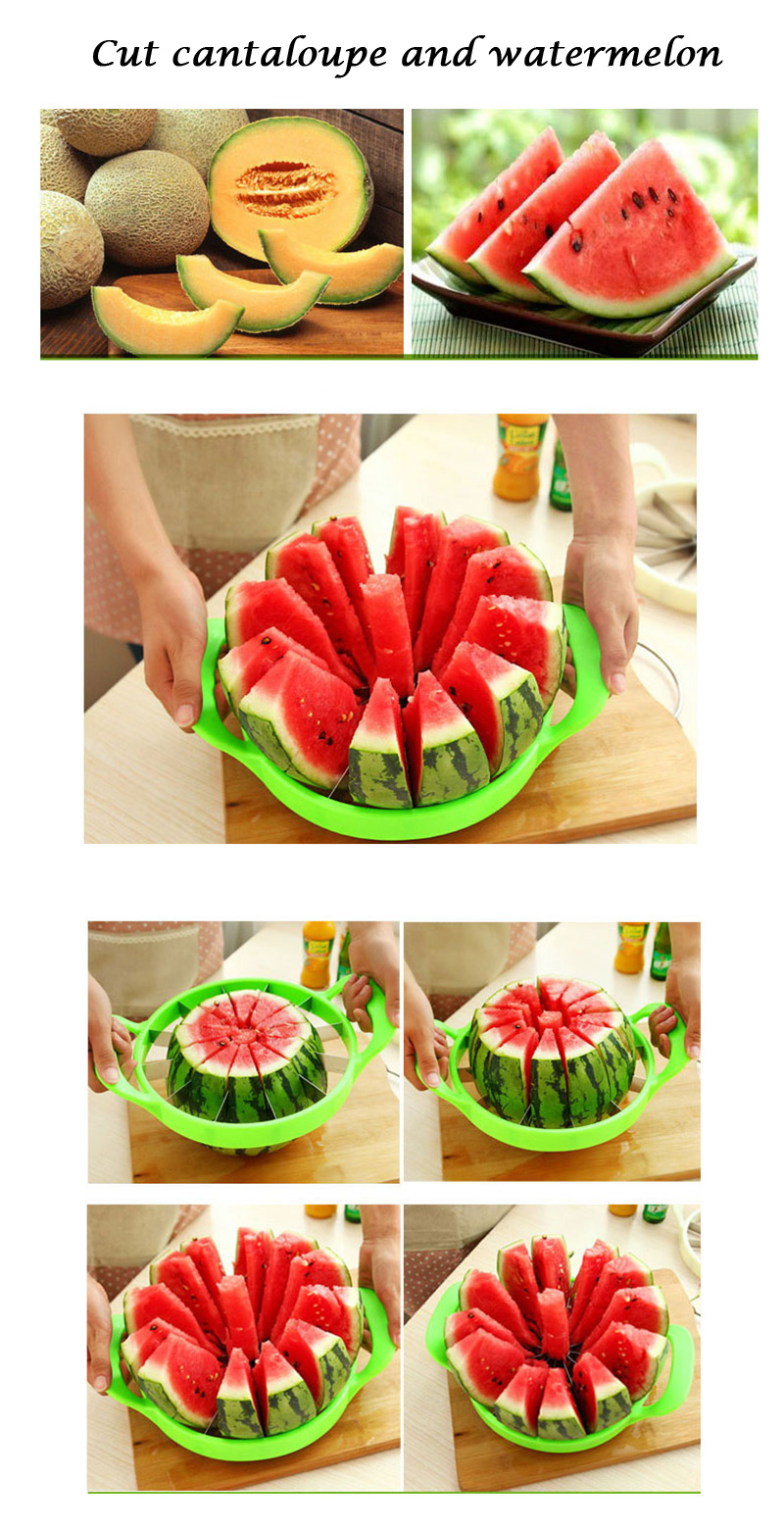 Kitchen gadgets 2018 Summer Stainless Steel Watermelon Sliced cutter knife fruit Slicer Salad Making tools kitchen accessories  (10)