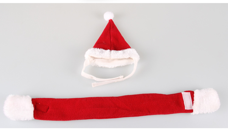 Pet Cat Dog Christmas costume Hats cape scarf suit Warm winter hat for Dog Pet Santa Claus costume hat Grooming accessories