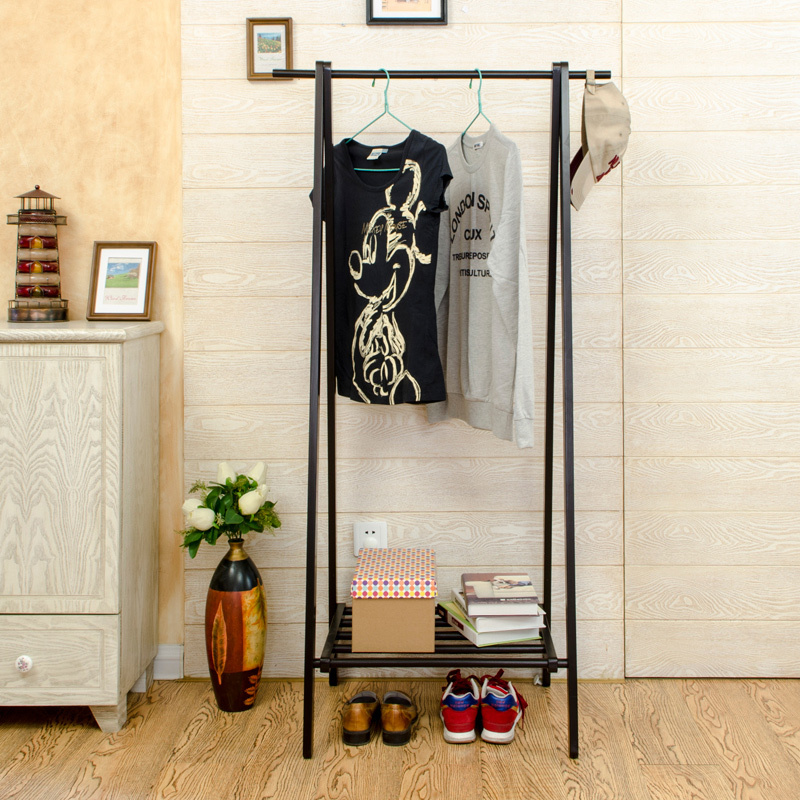 creative interior wood floor wood coat rack hanger ikea korean fashion clothes rack partition shipping