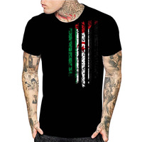 Westerse Sahara Vintage Vlag 3D Print Mens Black T-Shirts Grappige Custom Ontwerp Vlag Tops Kerstcadeau Hoge Kwaliteit Shirts