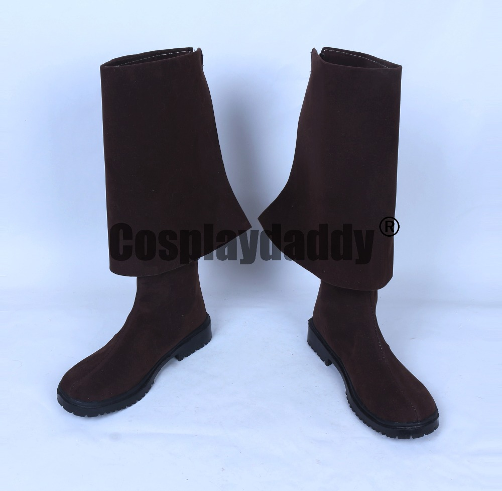 Pirates of the Caribbean Dead Men Tell No Tales Cosplay Long Shoes Boots S008