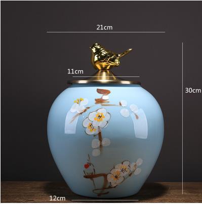 Beaux pots de rangement en céramique, articles décoratifs de bureau à la maison, artisanat moderne créatif - 6