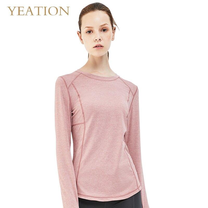 Camiseta Las De Gray Manga Mujeres Imprimación Camisa Deportivas Con Camisetas Yeation purple Larga pink tAWTqZaU