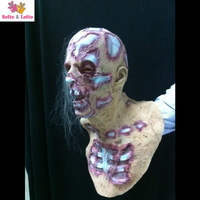 Free Shipping Skeleton Zombie Mask Soft Rubber Devil Ghost Scary Halloween Party Costume Dress Make Up