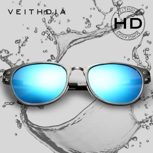 Image 3 - Солнцезащитные очки унисекс VEITHDIA, ретро очки из алюминиево магниевого сплава с поляризационными стеклами, модель 6680, 2019