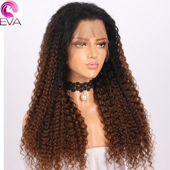 #1B/#4 Color Lace Front Human Hair Wigs Pre Plucked With Baby Hair Eva Curly Lace Front Wigs For Black Women Brazilian Remy Hair