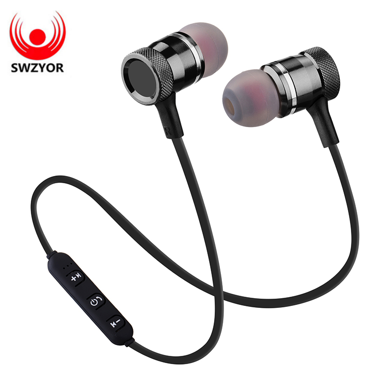 цена на SWZYOR LY-11 Metal Sports Bluetooth Headphone SweatProof Earphone Magnetic Earpiece Stereo Wireless Headset for Mobile Phone