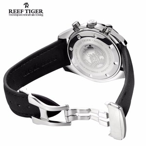 Image 5 - Reef Tiger/RT Reloj de marca de diseñador para hombre, con cronógrafo, fecha, superluminoso, correa de nailon, RGA3033, novedad de 2020