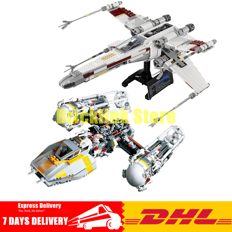 DHL LEPIN 05039 UCS The X-wing+ 05040 Y-wing Attack StaRed Five Starfighter Model Building Kit Set Blocks Bricks