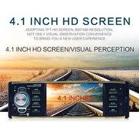 4029B 1 DIN 12V Car Radio 4.1 Inch HD Screen Bluetooth Car Stereo Music FM Tuner MP3 MP4 Player Rearview Camera Radio ISO plug