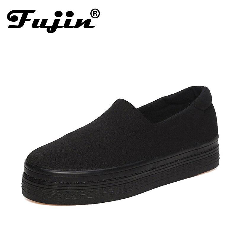 Fujin marca pisos transpirable zapatos de las mujeres 2017 Del Verano Sólido Lie
