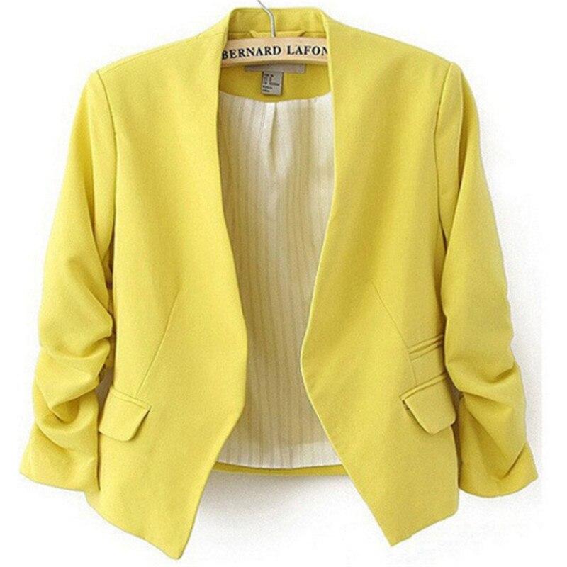 NKNB Female 34 Sleeve Woman Suit Jacket Blazer Feminino