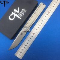 CH 3513 Folding knife M390 blade tactical ball bearing washer titanium outdoor survival camping hunting pocket knives EDC tools