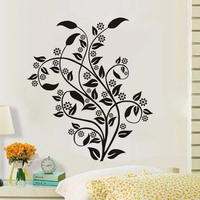 Plants Tree Leaves Wall Stickers For Living Room Wall Decor Waterproof Removable Vinyl Wall Art Decals