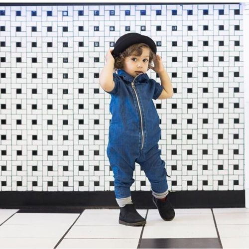New Baby Boy Kids Denim Zipper Romper Jumpsuit Clothes Outfits knot detail denim cami romper
