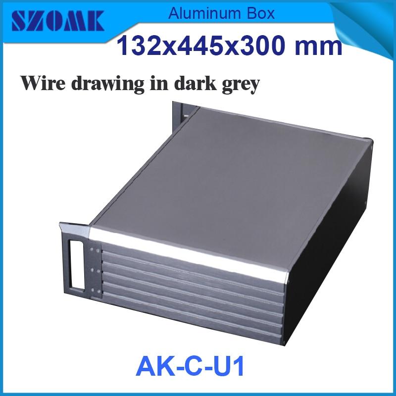 1 pièce boîte en aluminium de juction électrique de couleur noire et grise foncée pour les boîtiers en aluminium extrudés de support 395X271X129.5mm