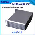 1 Piece Black And Dark Grey Color Electrical Juction  Aluminum Box For Extruded Aluminum Rack Enclosures 395X271X129.5mm