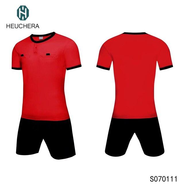04eec37e861 2017 2018 new season thailand quality Soccer Jerseys Short Men Football  Camisa Tracksuit Customizable referee umpire sets judge
