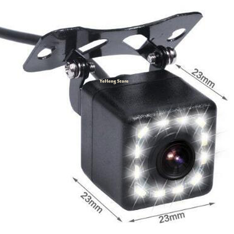 Водонепроницаемая Автомобильная камера заднего вида 170 широкоугольный HD CCD 12 LED ночного видения резервная камера заднего вида для парковки ...