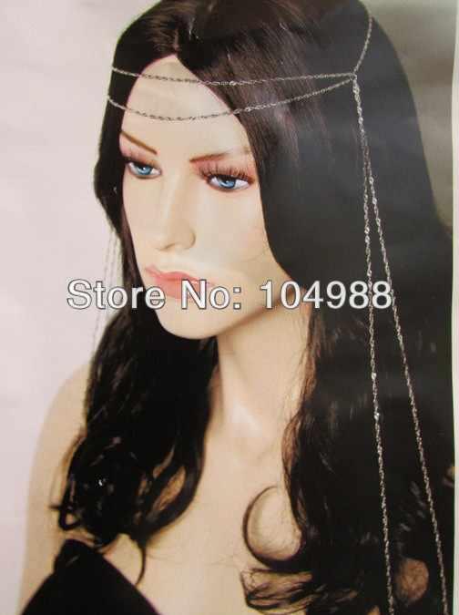 עיצוב ייחודי נשים זהב/שרשרת ארוך ראש הכסף רטרו מבט עכשווי אופנה שרשרות מבריקות דקים