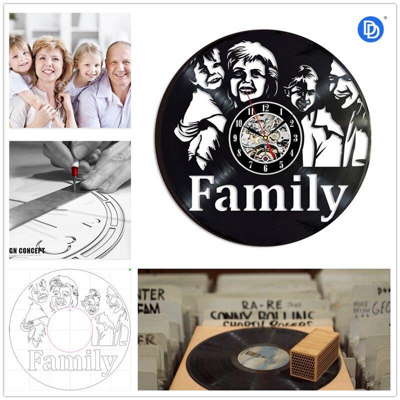 Home Living 12 inch Unique Personal Customization Vinyl 3D Wall Clock Commemorative Souvenir Christmas Gifts