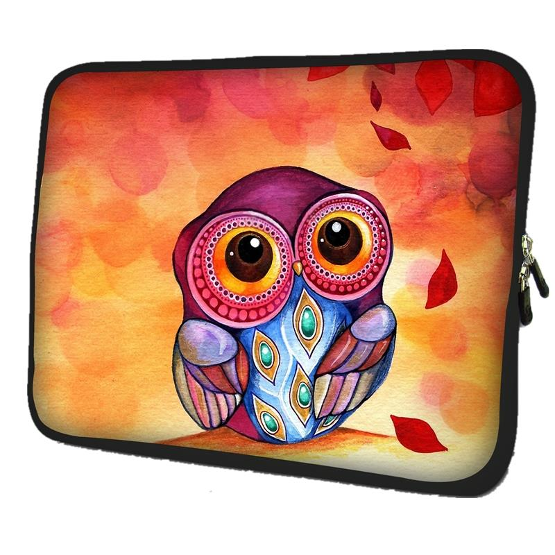 Cute Owl Notebook Laptop Sleeve case carrying Handle Bag For 13.3 Macbook Air Pro 13 Retina For HP Dell XPS Lenovo Yoga 3 Pro