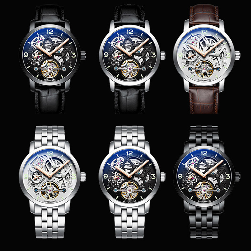AILANG time luxury brand watches the best automatic mechanical watch men full steel business sport waterproof watches Male watch - 5