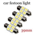 5050 39mm 4SMD Car Interior Dome Festoon LED Light Bulbs Lamp White DC 12V new arrival 10 pieces